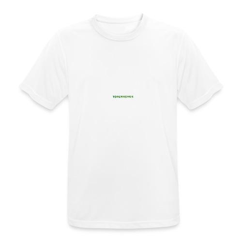 Tshirt Green triangles big - Männer T-Shirt atmungsaktiv