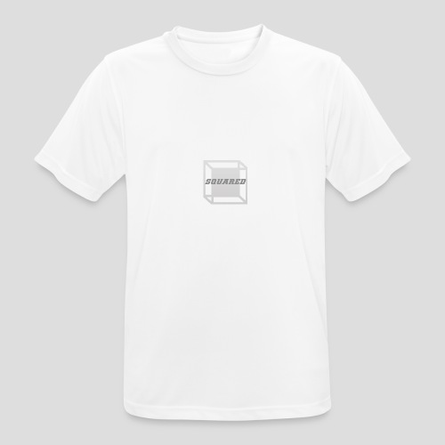 Squared Apparel Logo White / Gray - Men's Breathable T-Shirt