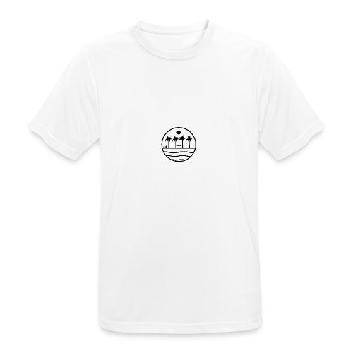 zon zee strand - Mannen T-shirt ademend actief