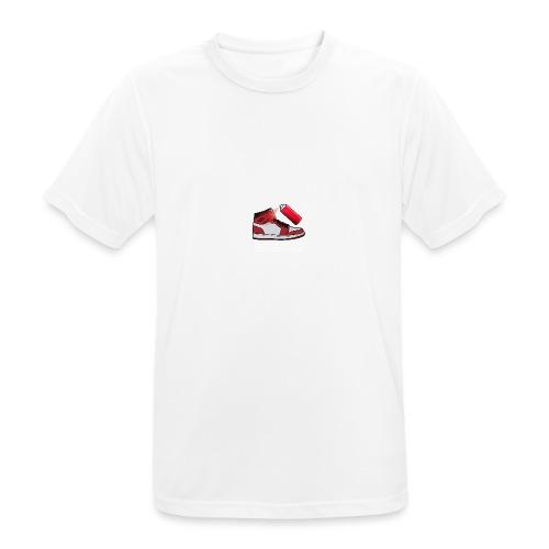 Sneaker Custom Logo /white text - Männer T-Shirt atmungsaktiv