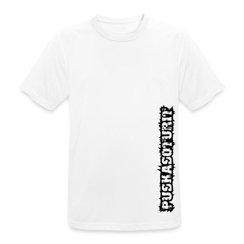 PS Tekstilogo (mono) - miesten tekninen t-paita