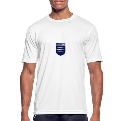 Three Lines On A Shirt - Men's Breathable T-Shirt