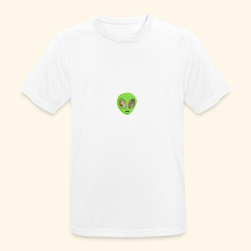 Alien hoofd 1 - Mannen T-shirt ademend