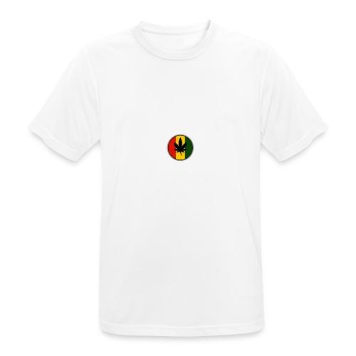weed logo - Herre T-shirt svedtransporterende