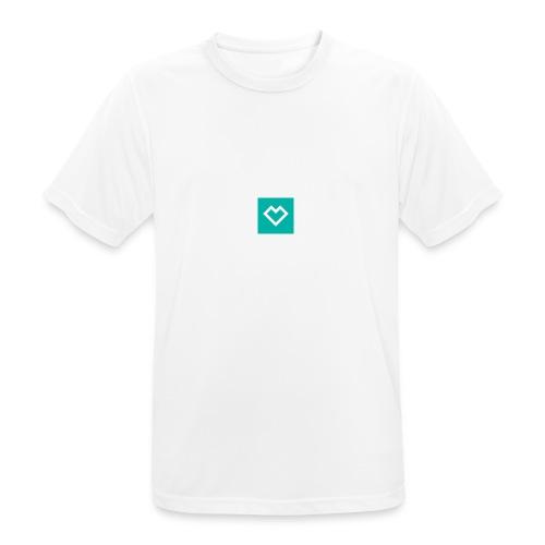 logo social media - miesten tekninen t-paita