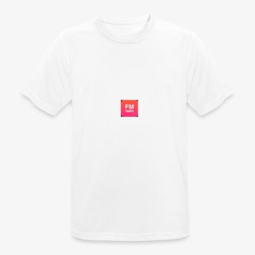 logo radiofm93 - Mannen T-shirt ademend actief