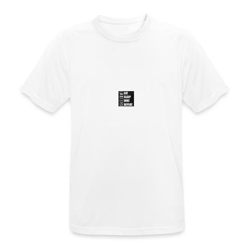 eat sleep bike repeat - T-shirt respirant Homme