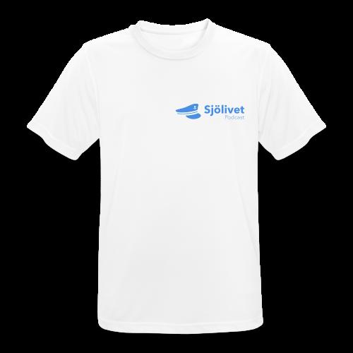 Sjölivet podcast - Svart logotyp - Andningsaktiv T-shirt herr