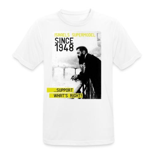 Israel since 1948 | Theodor Herzl - Männer T-Shirt atmungsaktiv