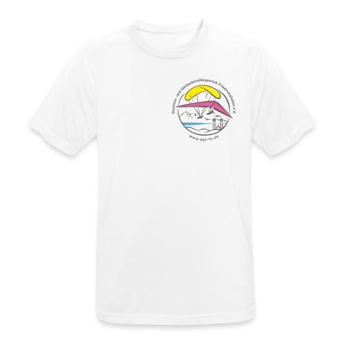 logo dgffn hg weiss transparent - Männer T-Shirt atmungsaktiv