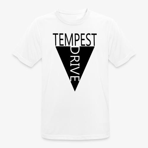 Komprimeret logo - Herre T-shirt svedtransporterende