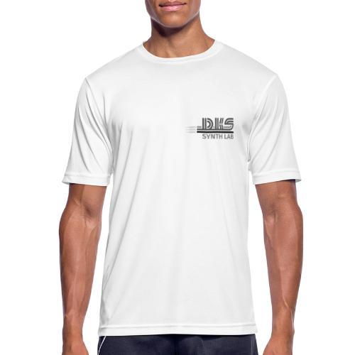 DKS SYNTH LAB Flat Black-Grey - Maglietta da uomo traspirante