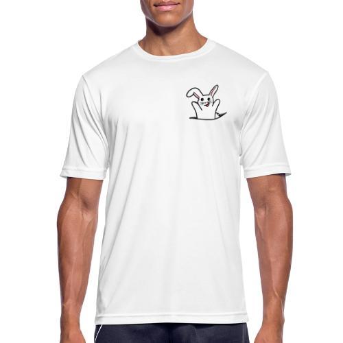 Hase ist freudig - Männer T-Shirt atmungsaktiv