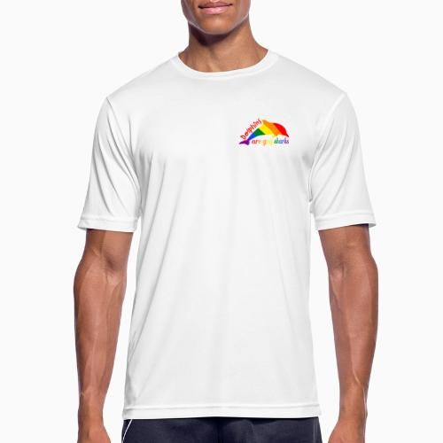 Dolphins are gay sharks! - Men's Breathable T-Shirt