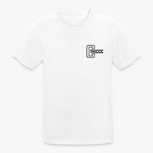 thiccc logo WHITE and BLACK - Men's Breathable T-Shirt