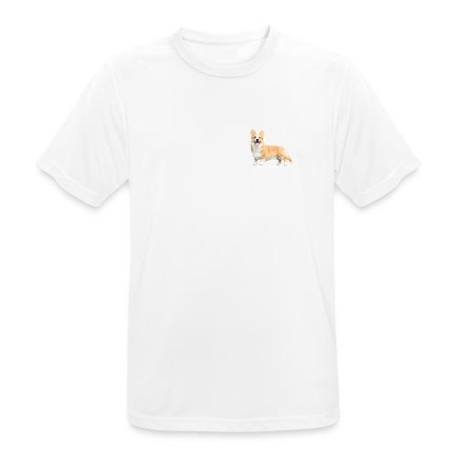 Topi the Corgi - White text - Men's Breathable T-Shirt