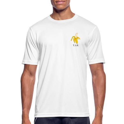 Y.A.M. LOGO Wit - Mannen T-shirt ademend actief