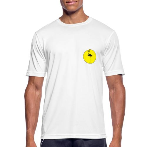 Silhouette Fenicottero - Maglietta da uomo traspirante