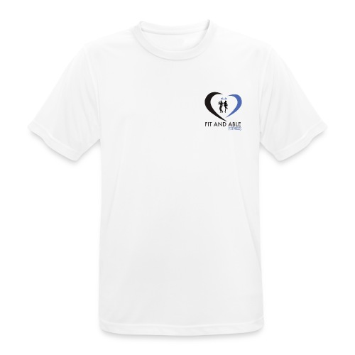 Fit and Able Fitness Logo - Men's Breathable T-Shirt