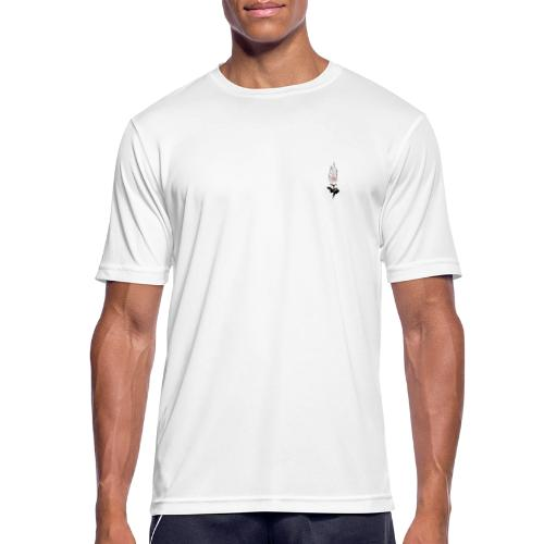 petit logo rose emflammé - T-shirt respirant Homme
