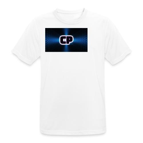 clup pingvin logo - Pustende T-skjorte for menn