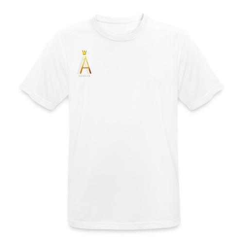 Simple White - Männer T-Shirt atmungsaktiv