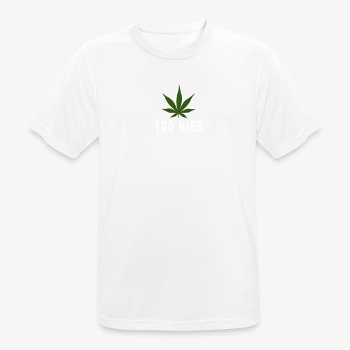 too high design - mannen T-shirt ademend