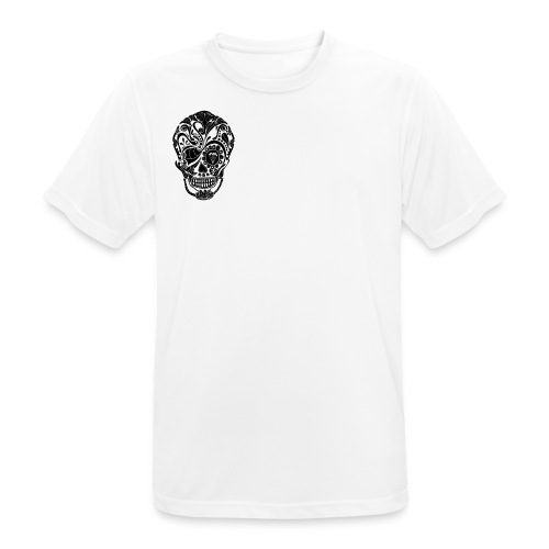 calavera tribal - Camiseta hombre transpirable