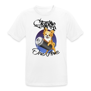 Chihuahua graffiti one love - Men's Breathable T-Shirt