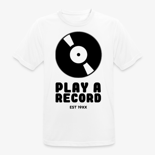 PLAY A RECORD - EST 19XX - Men's Breathable T-Shirt