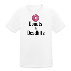 Donuts Deadlifts - Men's Breathable T-Shirt