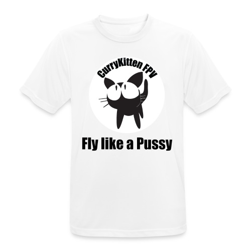 CurryKitten Logo - Fly like a Pussy - Men's Breathable T-Shirt