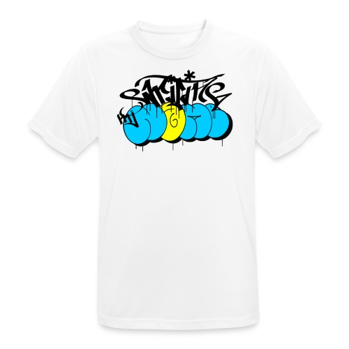 writing my name - graffiti bombing day - Men's Breathable T-Shirt