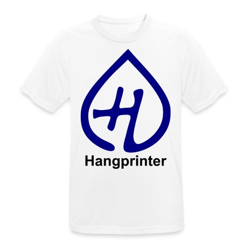 Hangprinter logo and text - Andningsaktiv T-shirt herr