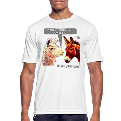 Protect Yourself Donkey - Coronavirus - Camiseta hombre transpirable