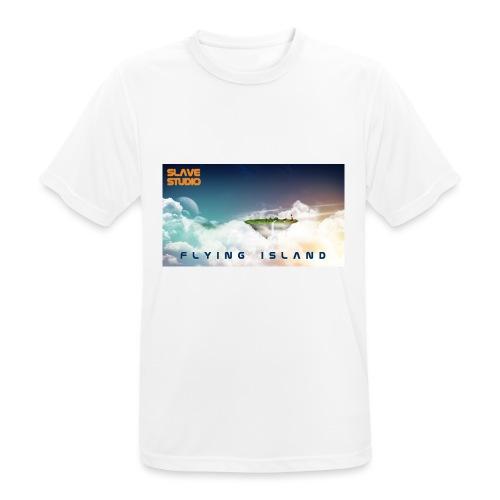 flying island - Maglietta da uomo traspirante