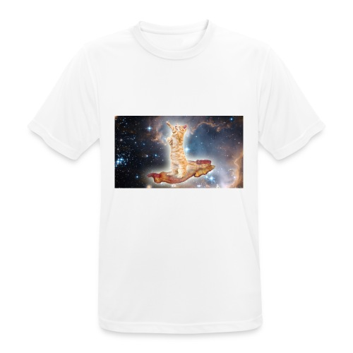 Space Cat On a Piece O' Bacon - Men's Breathable T-Shirt