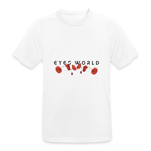 Eyes world flower - T-shirt respirant Homme