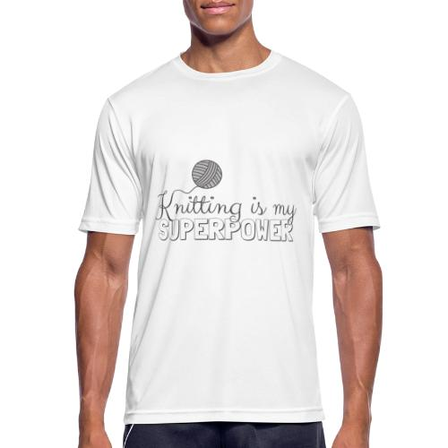 Knitting Is My Superpower - Men's Breathable T-Shirt
