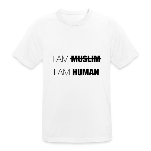 I AM MUSLIM - I AM HUMAN - Men's Breathable T-Shirt