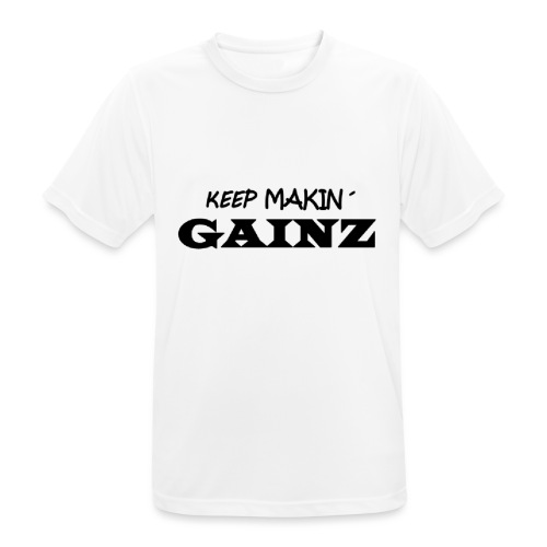 KeepMakin'Gainz_black - Men's Breathable T-Shirt