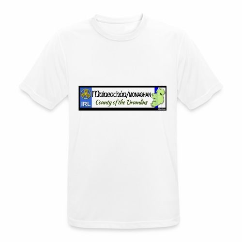 MONAGHAN, IRELAND: licence plate tag style decal - Men's Breathable T-Shirt