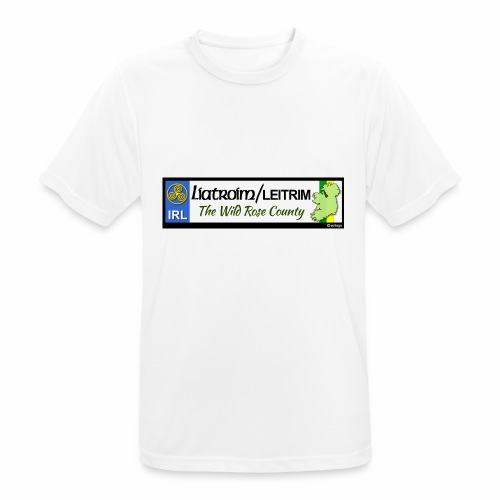 LEITRIM, IRELAND: licence plate tag style decal eu - Men's Breathable T-Shirt
