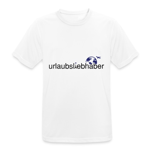 urlaubsliebhaber blau-schwarz dünne Schrift - Männer T-Shirt atmungsaktiv