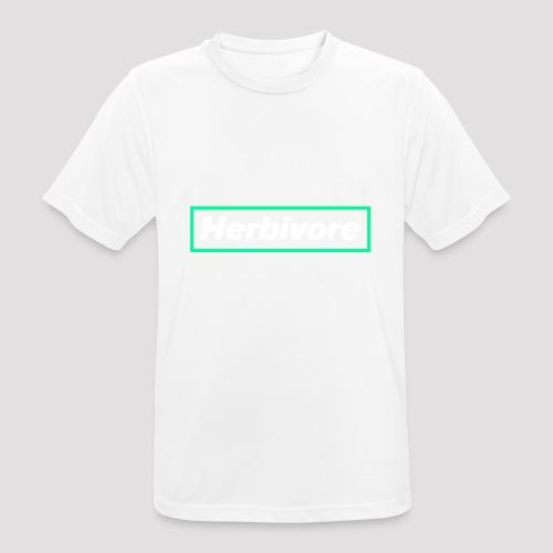 Herbivore Logo White - Maglietta da uomo traspirante