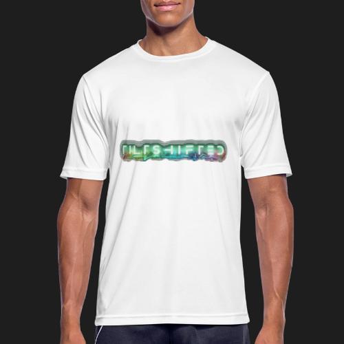 TiltShifted Logo on Black - miesten tekninen t-paita
