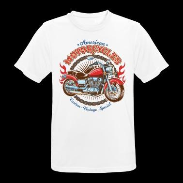 amerykańskie motocykle - Koszulka męska oddychająca