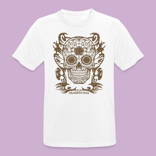 SKULL FLOWERS LEO - Männer T-Shirt atmungsaktiv