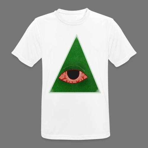 illuminati eye - Camiseta hombre transpirable