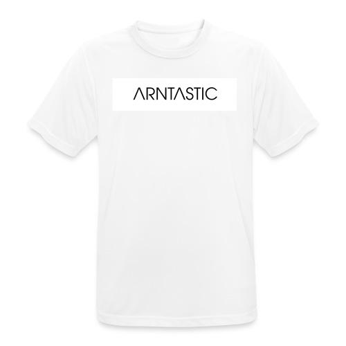Weißer Balken - Männer T-Shirt atmungsaktiv